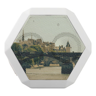 Ile De La Cite, Pont Des Arts in Paris, France White Bluetooth Speaker