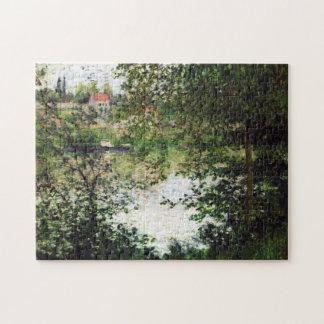 Île de la Grande Jatte Through Trees Monet Fine Jigsaw Puzzle