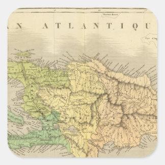 Ile St. Domingue or Haiti Square Sticker