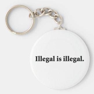 Ilegal es ilegal llaveros personalizados