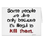 Ilegal matarles felicitación