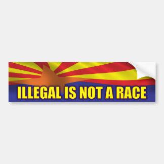 Ilegal no es una raza - apoye SB1070 Etiqueta De Parachoque