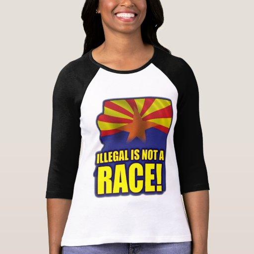 Ilegal no es una raza camiseta