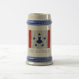 Îles Australes waving flag with name Coffee Mugs