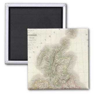 Iles Britanniques - British Isles 2 Inch Square Magnet