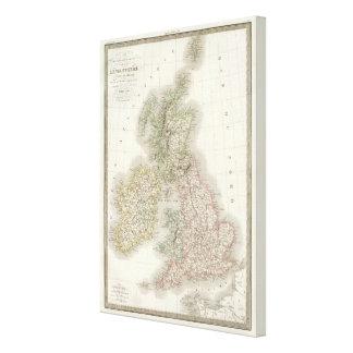 Iles Britanniques - British Isles Canvas Print