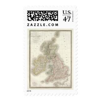 Iles Britanniques - British Isles Postage Stamp