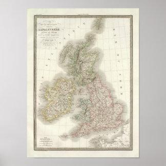 Iles Britanniques - British Isles Poster