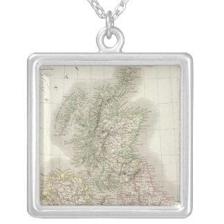 Iles Britanniques - British Isles Square Pendant Necklace