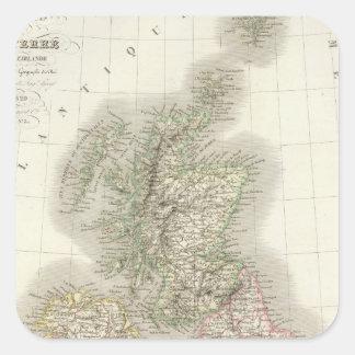 Iles Britanniques - islas británicas Pegatina Cuadrada
