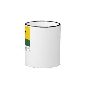 Îles de la Société flag with name Ringer Coffee Mug
