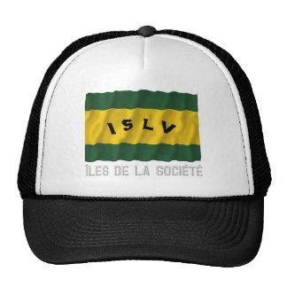 Îles de la Société waving flag with name Trucker Hat