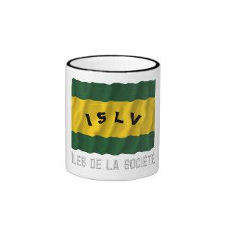 Îles de la Société waving flag with name Ringer Coffee Mug