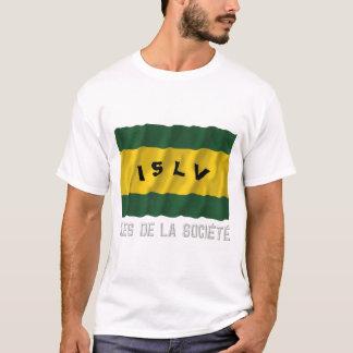 Îles de la Société waving flag with name T-Shirt