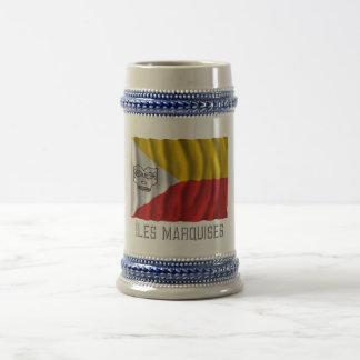 Îles Marquises waving flag with name Mug