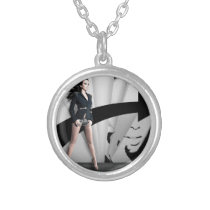 Ilhame Barbie Silver Plated Necklace