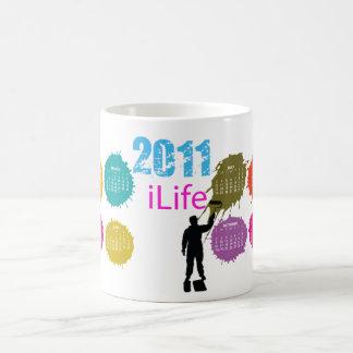 iLifePink, taza del calendario de la pintura
