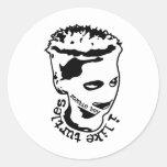 iliketurtlesBW Round Stickers