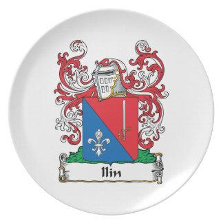 Ilin Family Crest Melamine Plate