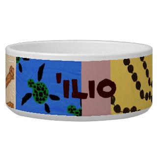 'ilio (dog) in Hawaiian) Customized Dog Bowl