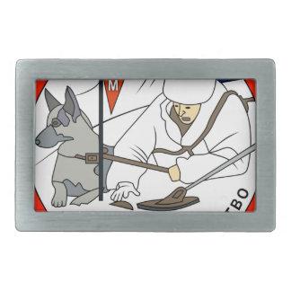 ilitary Working Dog service patch Rectangular Belt Buckle