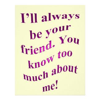 I'll Always Be Your Friend! Letterhead