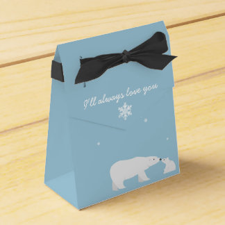 I'll Always Love You Polar Bear Tent Favor Box