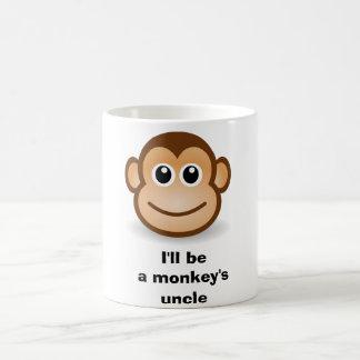 I'll be a monkey's uncle classic white coffee mug