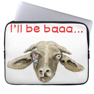I'll be Baaa Funny Goat Art Science Fiction Design Computer Sleeve