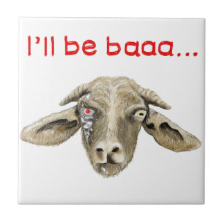 I'll be baaa..funny goat meme picture tile