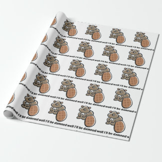 I'll Be Damned Beaver Wrapping Paper