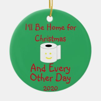 I'll Be Home For Christmas Ceramic Ornament
