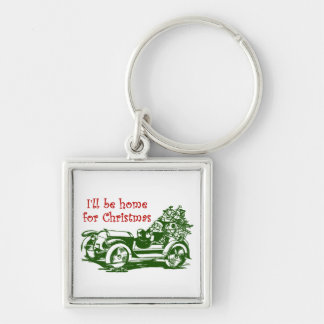 I'll Be Home For Christmas Keychain