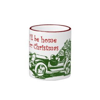 I'll Be Home For Christmas Ringer Coffee Mug