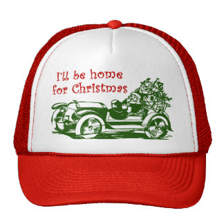 I'll Be Home For Christmas Trucker Hat