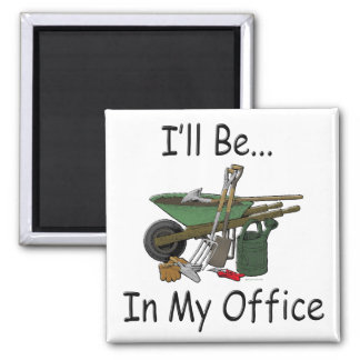 I'll Be In My Office 2 Inch Square Magnet