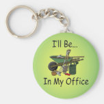 I'll Be In My Office Basic Round Button Keychain