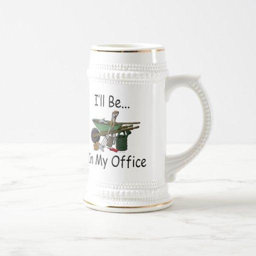 I'll Be in My Office Garden 18 Oz Beer Stein