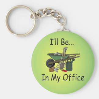 I'll Be In My Office Keychain