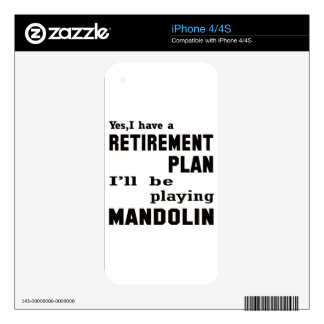 I'll be playing mandolin. skin for iPhone 4