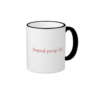 I'll be there/repeal prop 8 ringer coffee mug