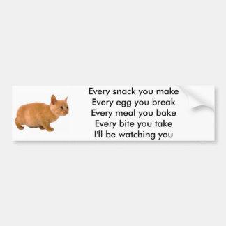 I'll Be Watching You (Cat) Bumper Sticker