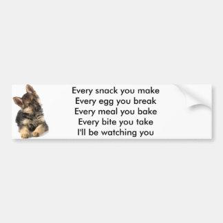 I'll Be Watching You (Dog) Bumper Sticker