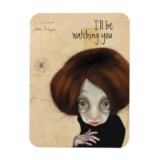 I'll be watching you rectangular photo magnet