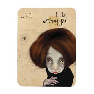 I'll be watching you rectangular photo magnet