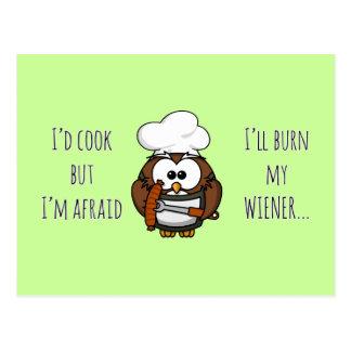 I'll burn my wiener postcard