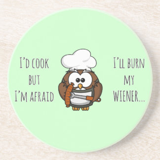 I'll burn my wiener sandstone coaster