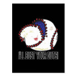 Ill Bust Your Guts Postcard