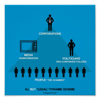 """Ill but """"Legal"""" Pyramid Scheme Poster"""