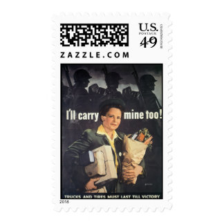 I'll Carry Mine Too World War 2 Postage